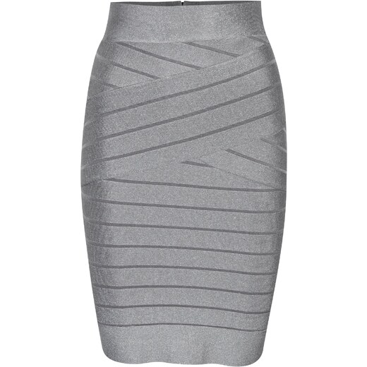 Šedá metalická pouzdrová sukně French Connection - Glami.cz 06687c6281