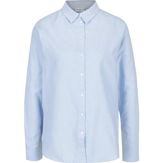 8db84171753 Světle modrá košile s průstřihy na zádech Jacqueline de Yong Naya - Glami.cz