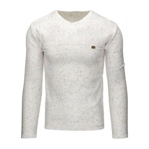 Pánský svetr bílý - bílá - Glami.cz cdd49169f7