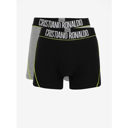 0c52f73596 Súprava dvoch boxeriek v čiernej a sivej farbe CR7 - Glami.sk