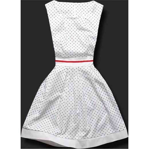MODOVO Elegantné dámske šaty H03 biele - Glami.sk 31807faa07f