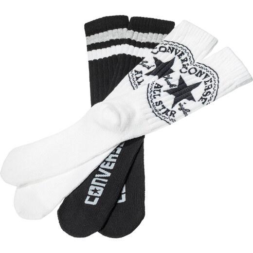 Fekete-fehér férfi zokni Converse Men Fashion Crew 360 - kettős csomagolás  - Glami.hu 5d33eef002