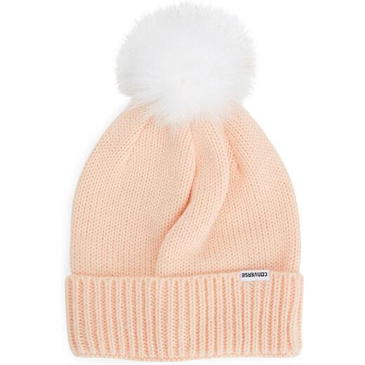 Világos rózsaszín sapka Converse Fur Pom Knit - Glami.hu 6e3659347f