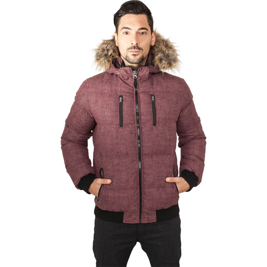 Urban Classics Pánska zimná bunda Melange Expedition Bubble Jacket red  melange - Glami.sk 40a240b3477