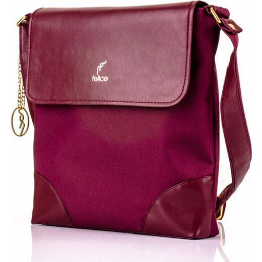 Bordová kabelka přes rameno - Felice Aurora A11 Odstíny barev  červená 4796548fddd