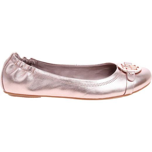 9674e9036bd87 Tommy Hilfiger Baleríny dámské baleriny FW0FW01016 a1285ppleton 9z růžové Tommy  Hilfiger - Glami.cz