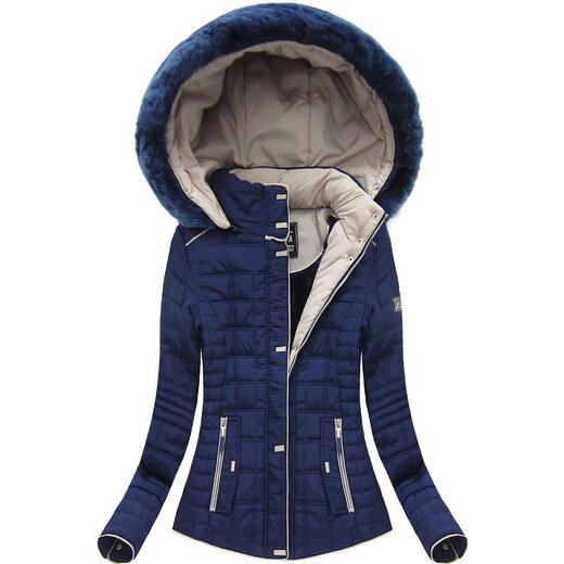 dd78f1c70 Dámska zimná bunda w662 modrá - Glami.sk