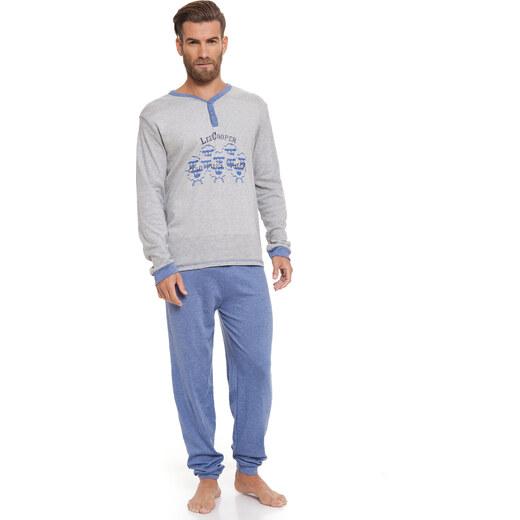 d2dd93fa29a6b Lee Cooper Pánske pyžamo LCMHW000420_LIGHT GREY MELANGE - Glami.sk