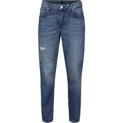 Modré dámské mom džíny s vysokým pasem Pepe Jeans Violet Twist - Glami.cz 45318a2e13