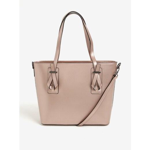 Růžová dámská kožená metalická kabelka do ruky crossbody kabelka KARA -  Glami.cz e7ca81a2b20