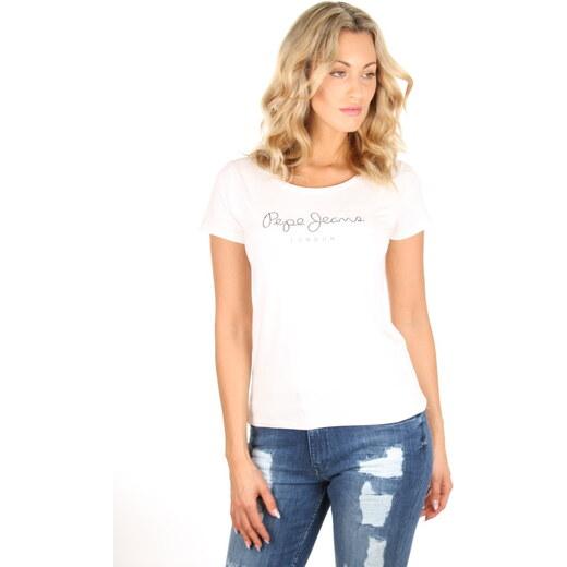 Pepe Jeans dámské bílé tričko Verena - Glami.sk 57845e7ad2