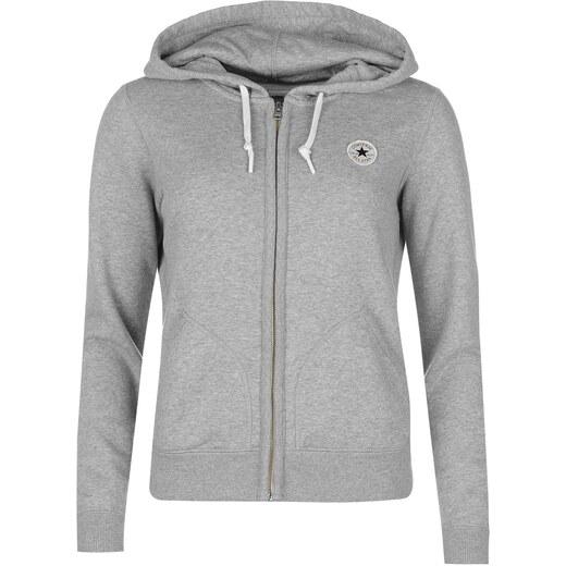 mikina Converse Basic Zip Hoodie Grey - Glami.cz f478646965