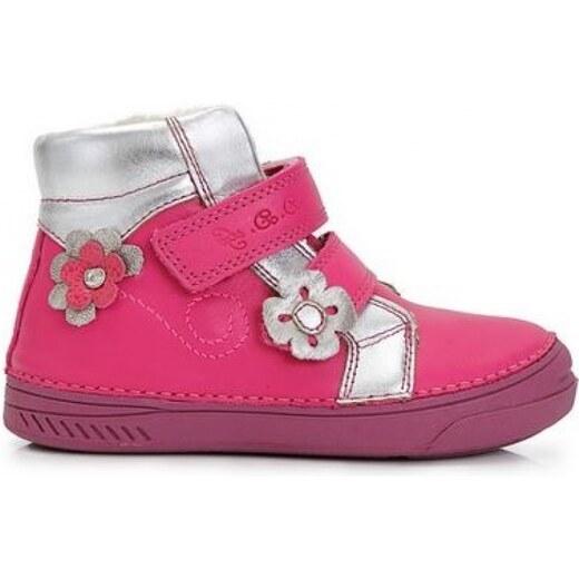 D.D.STEP zimná kožená obuv 040-401A dark pink - Glami.sk a485b4f3a21