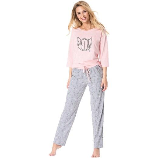 Rössli Meow női pizsama szürkés-rózsaszín - Glami.hu b7723c27b3