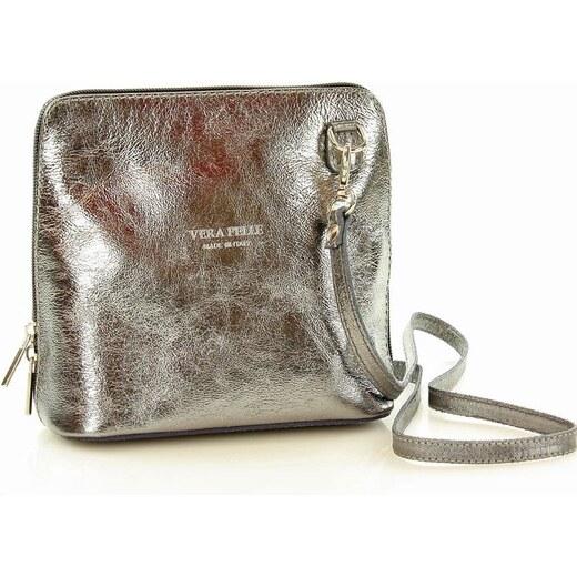 3770250162 AKCE - MAZZINI Stříbrná kabelka přes rameno (l20d) - Glami.cz