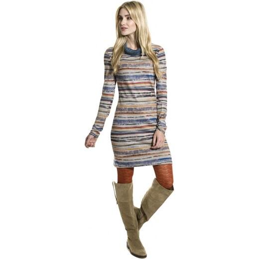 324bd4c139c6 SMASH SMASH dámské úpletové šaty Danika s proužkem béžové