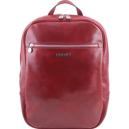 5169ad65e6 Osaka - kožený batoh na notebook TUSCANY LEATHER - cervena - Glami.cz