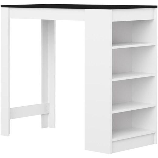 142f7f41fdda Biely barový stôl s čiernou doskou Symbiosis Auguste - Glami.sk