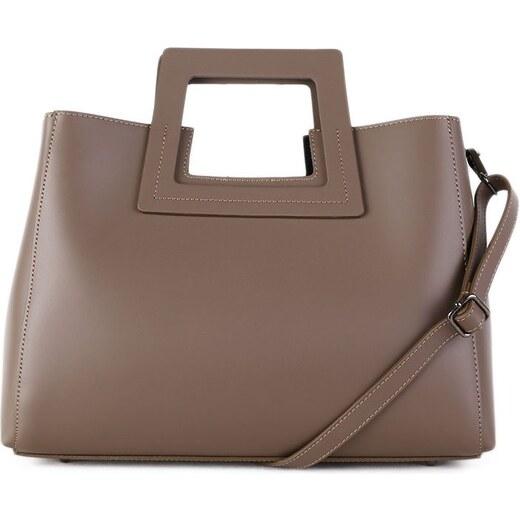 ITALSKÉ Luxusní kožená kabelka Italská hnědá Lena - Glami.cz b4b66961c88