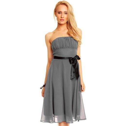 d4ac13752d85 Mayaadi Spoločenské šaty - šedé - Glami.sk