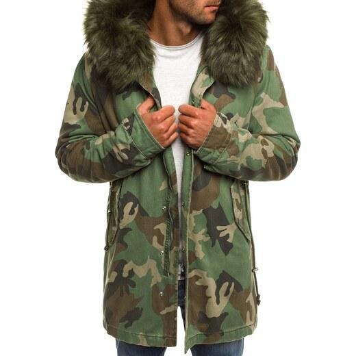 Előkelő terepmintás parka kabát X-FEEL 88618 - Glami.hu e353fb84e4