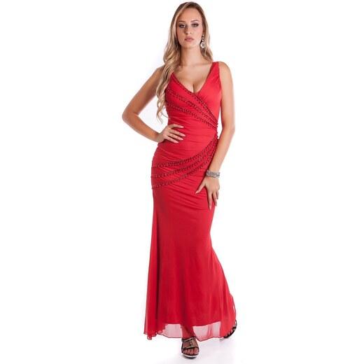 55269d4e1451 KouCla plesové šaty s perličkami - Glami.sk