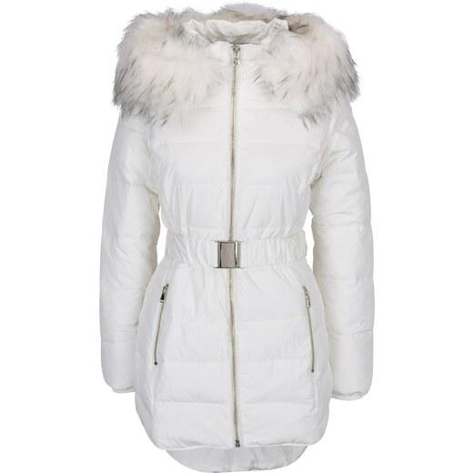 6ca43507f4d3 Krémová prešívaná bunda s umelým kožúškom Miss Selfridge - Glami.sk