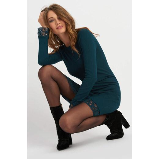 059cb81c3f0 Orsay Pleteninové šaty s krajkovým zdobením - Glami.cz
