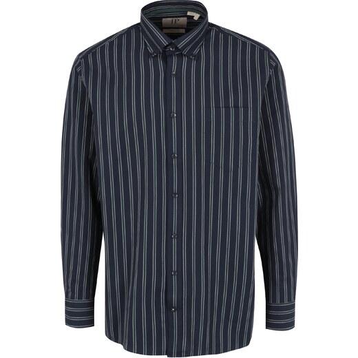 7091d507850b Tmavomodrá pruhovaná comfort fit košeľa JP 1880 - Glami.sk