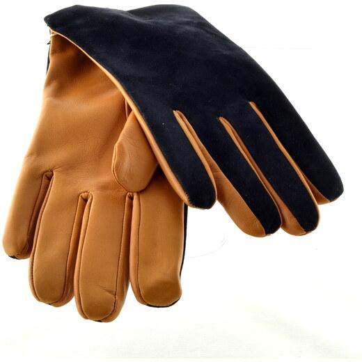 0f39d3148ff Bohemia gloves Dvoubarevné pánské kožené rukavice - Glami.cz