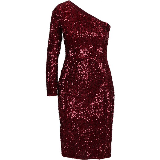 6c2ee0fe9d2a Červené flitrované asymetrické šaty Dorothy Perkins - Glami.sk