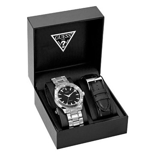 Pánské hodinky Guess Chase Silver-Tone And Black Watch Box Set - Glami.cz 639ec8b30b