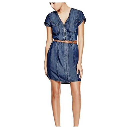 Šaty G by Guess Sonny Denim Shirtdress dark wash - Glami.cz 8735dadee2
