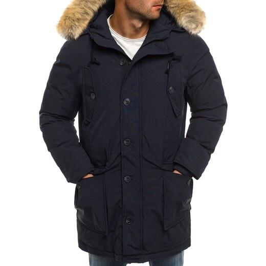 5a0e2cb8e3 Stílusos sötét kék férfi parka kabát J.BOYZ X1029K - Glami.hu