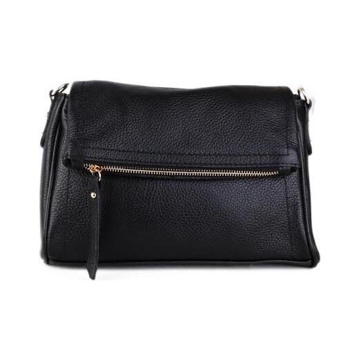 Talianske kožené luxusné kabelky cez plece čierne Osmana - Glami.sk 210563eb52f