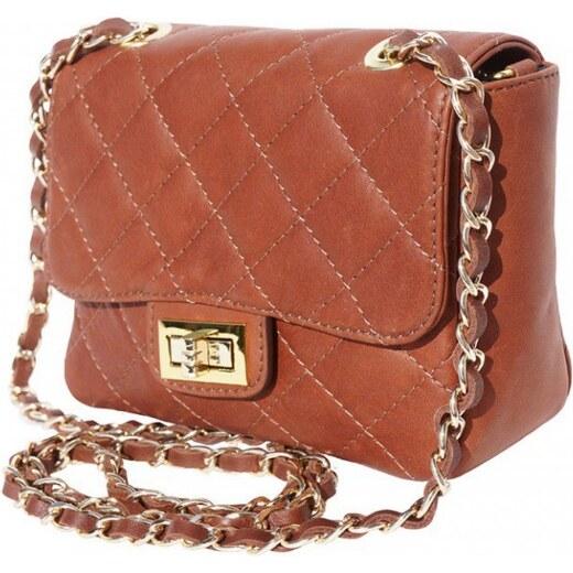 Borse Leather Italy Kabelka Florence Perlita kožená - hnědá - Glami.cz f83b5b0cbcb