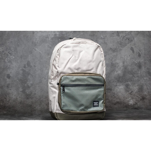 0499381f32e Herschel Supply Co. Pop Quiz Backpack Light Khaki Crosshatch  Forest Night  - Glami.cz