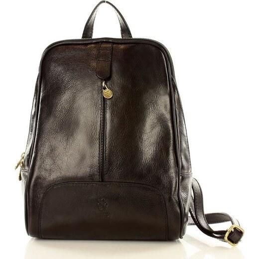 e9d4bc49b7 MAZZINI Černý kožený batoh (pl30a) - Glami.cz
