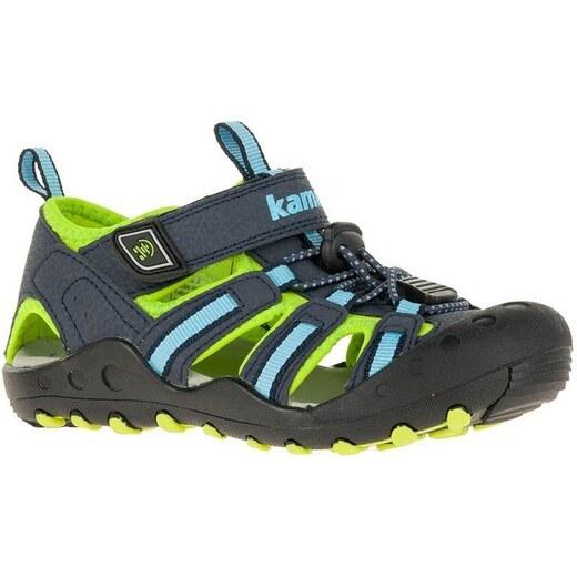 daebffe0b835 Kamik Chlapčenské sandále CRAB - šedo-zelené - Glami.sk