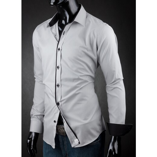 Pánská košile Victorio Světle šedá Victorio V130 - Glami.cz f4f0cd63bb
