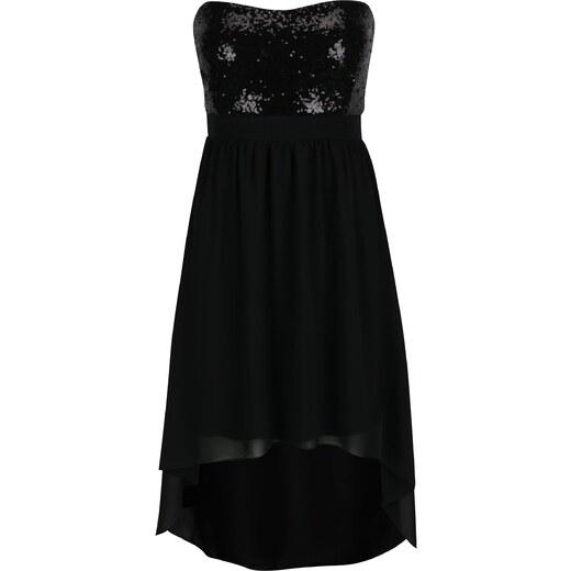 791e54a30587 Čierne šaty s flitrovaným topom bez ramienok Haily´s Gloria - Glami.sk