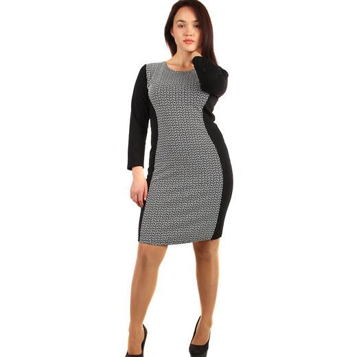 TopMode Vzorované bavlněné šaty - pro plnoštíhlé (černá 947514a08f