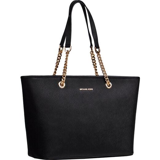 Michael Kors Jet Set Travel Chain kožená kabelka cez rameno čierna -  Glami.sk e531ac67954