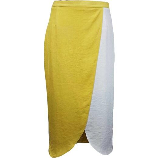 RIVER ISLAND dámská bílá-žlutá sukně - Glami.sk 45057cd5dc