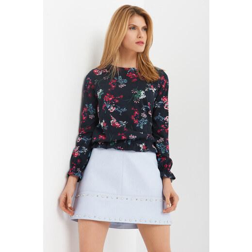 2fed570fc2 Orsay Kvetinové tričko s volánikom na rukávoch - Glami.sk
