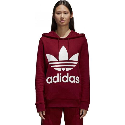 Dámska mikina adidas Originals TREFOIL HOODIE (Červená) - Glami.sk dbf99f55c7
