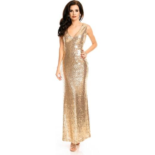159f750dc522 Emma   Ashley Plesové flitrové šaty ve zlaté barvě - Glami.cz