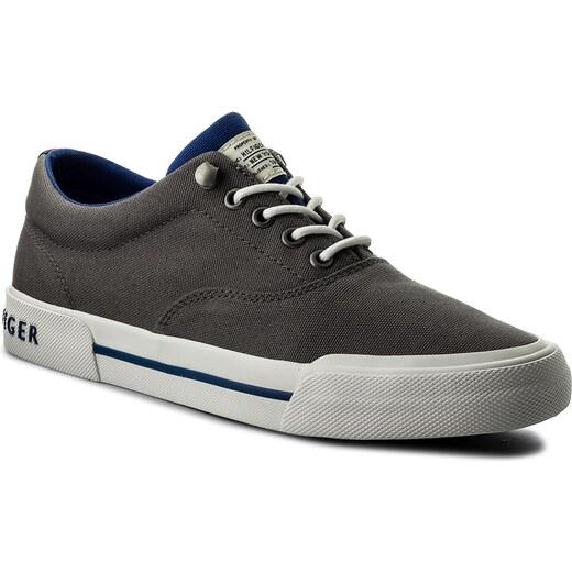 881a96ec413 Tenisky TOMMY HILFIGER - Heritage Textile Sneaker FM0FM01353 Steel Grey 039  - Glami.sk