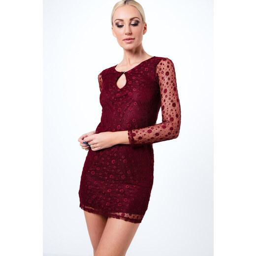 49081972d1f0 Elegantné šaty so vzorovaným šifónom 2155