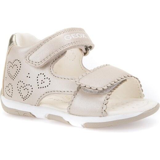 a639b18b9a00 Geox Dievčenské sandále Tapuz - béžové - Glami.sk
